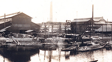 The Hanshin plant when it was first established