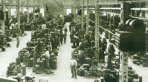 The machinery plant inside the Sakai plant