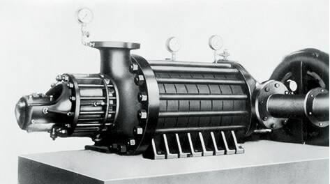 750 horsepower boiler water supply turbine pump for Kansai Electric Power Company, Inc.'s Shikama Power Plant